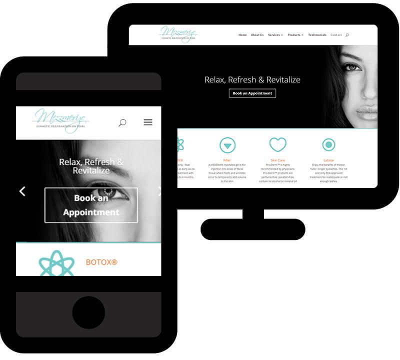 Web design for Mezzmerize